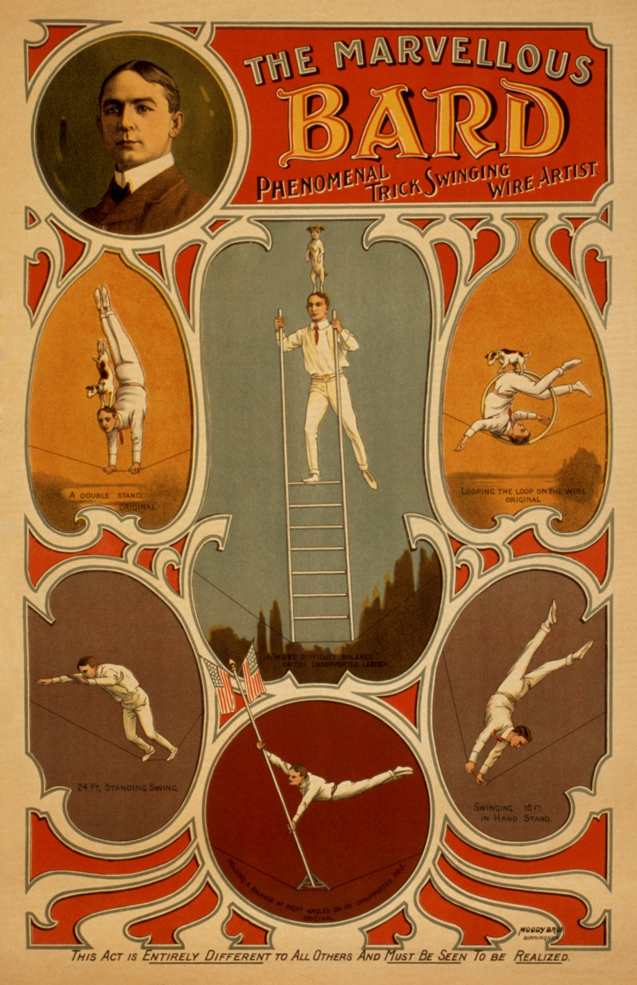 The Marvellous Bard | Vintage Circus Art & Vaudeville Poster ...