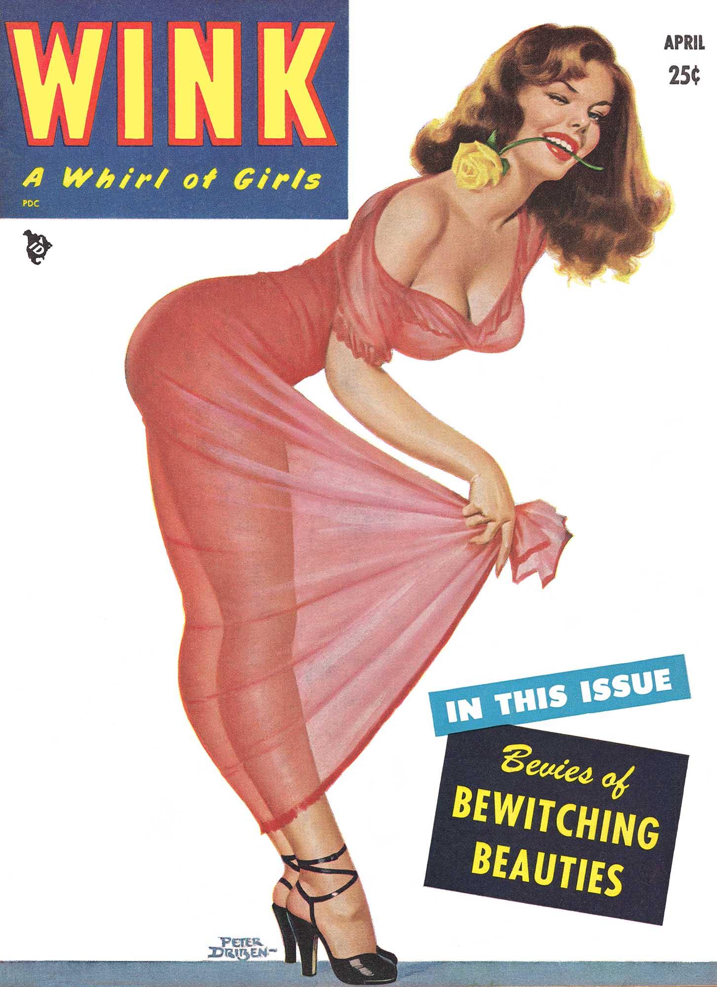 Vintage Pin Up Girl Poster Gil Elvgren See Through Nightie