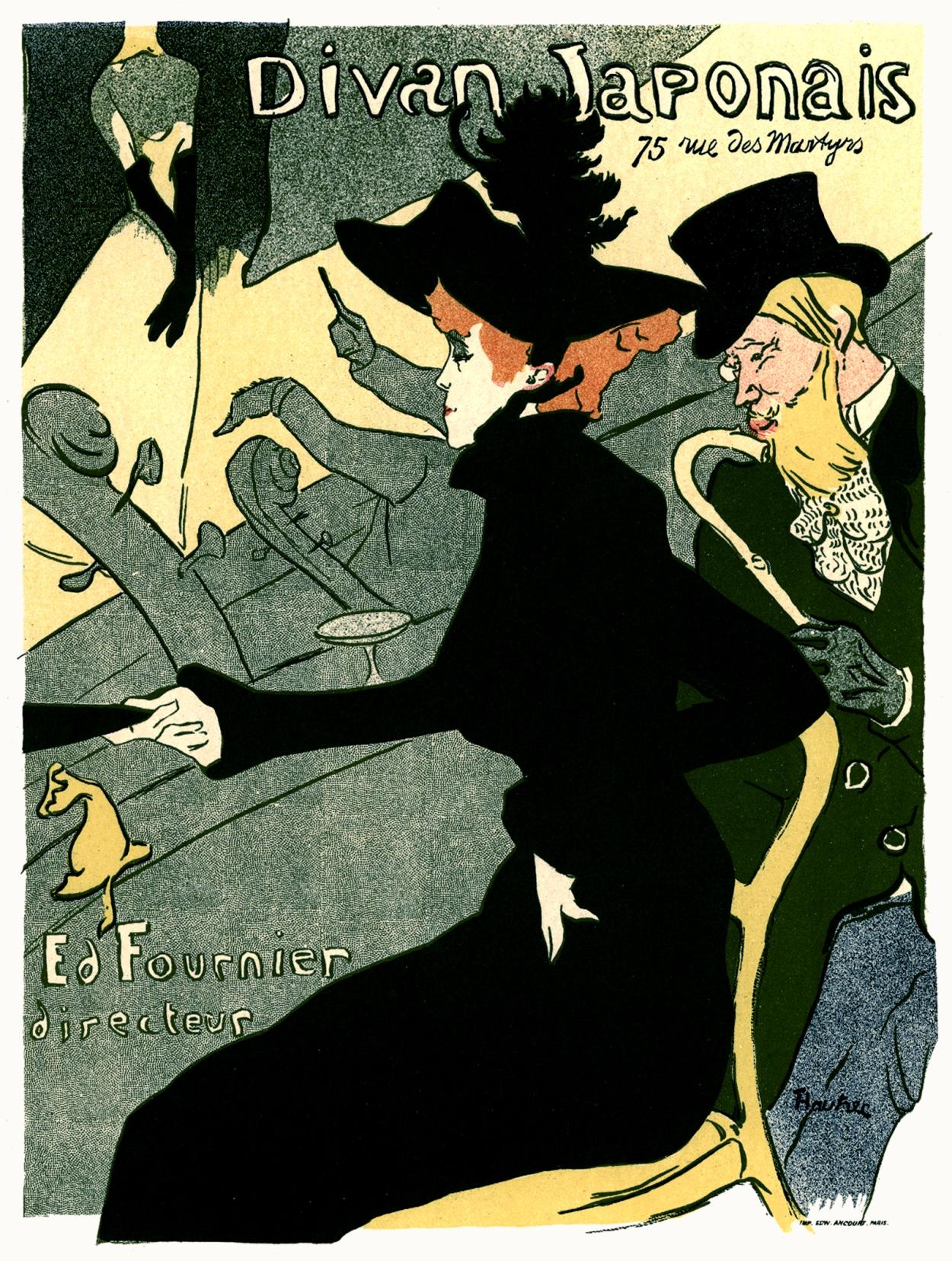 Henri de Toulouse-Lautrec's Poster - Jane Avril | Vintage French ...